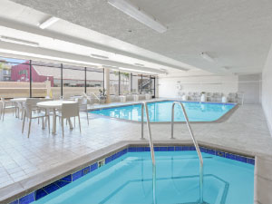 Indoor Pool and Spa at our Disneyland Hotel in Anaheim