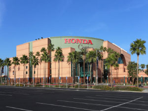 The Honda Center is down the road from our Anaheim Hotel